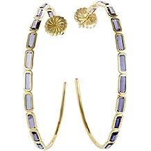 Ippolita Rock Candy Large 18K Yellow Gold Iolite Hoop Earrings