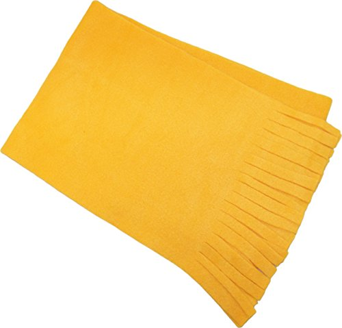 New Threads Co USA Made Fringed Fleece Scarf. 2001 Taxi (Dog Fleece Scarf)
