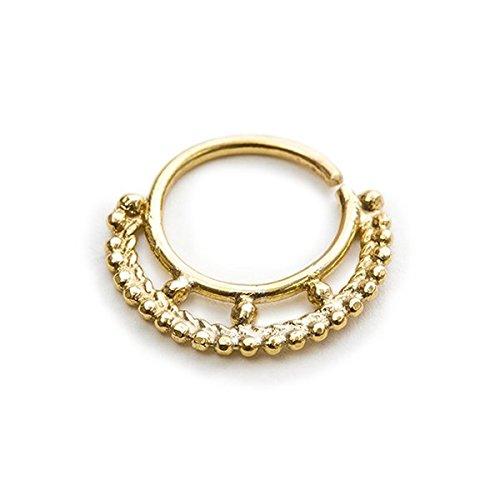 Studio Meme Designer Handmade Nose Rings available in Solid 14k Yellow Gold 16 Gauge 7-9mm by Studio Meme