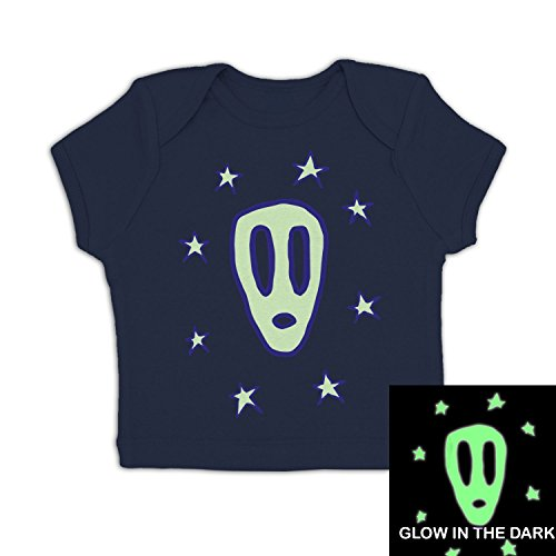 Ghostly Mask Baby T-shirt - Navy 18-24 Months (Halloween Horror Nights 24 T Shirts)