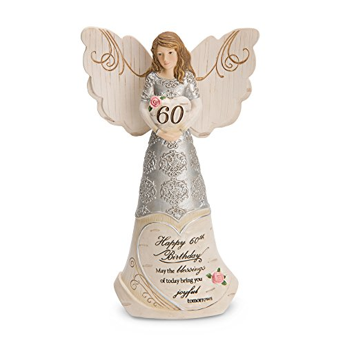 Pavilion Gift Company 82415 Elements Angels - Happy 60th Birthday May The Blessings of Today Bring You Joyful Tomorrows (60th Present For Mom Birthday)
