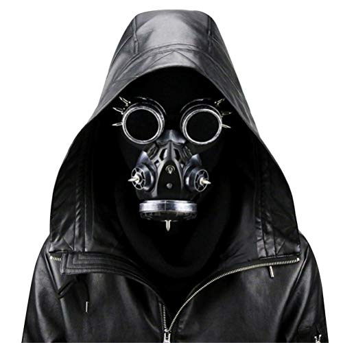 Xinjiahe Steampunk Gas Mask, Retro Windproof Goggles Gothic Respirator for Masquerade Cosplay Halloween Costume Props Facial Decoration,C]()