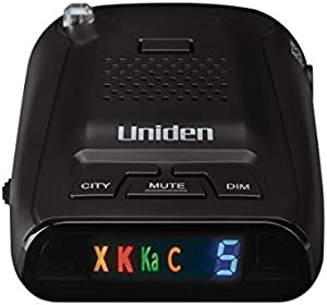 Uniden DFR3 Long Range Laser/Radar Detector with 360 Degree Protection, 3 Modes, Highway/City/City 1 Modes, Easy to Read ICON Display with Numeric Signal Strength Counter