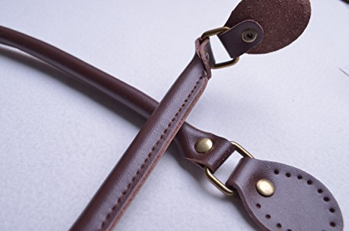 /… WENTO Pair 15 Inches Purses Straps,cowhide Leather Purse Handles,genuine Leather Handles,cowhide Leather Purses Straps,soft Cow Leather Straps,purse Making Supplies Black