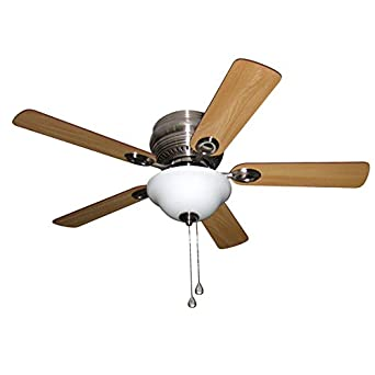 Harbor breeze mayfield 44 in brushed nickel flush mount indoor harbor breeze mayfield 44 in brushed nickel flush mount indoor residential ceiling fan with light mozeypictures Choice Image