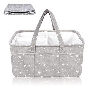 Diaper caddy | Diaper Caddy Organizer | Diaper organizer | Baby Storage and Organizer XL | Diaper Organizer Caddy| Baby Gifts | Storage Bin for Nursery | Baby Bins for Storage