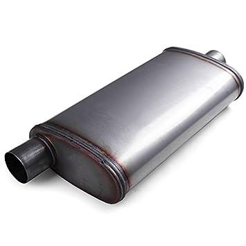 "Center Two Universal Stainless steel performance muffler 2.25/"" Offset"