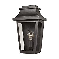 Elk 461901 Covina Outdoor Wall Sconce, 1-light 100 Watts, Matte Black