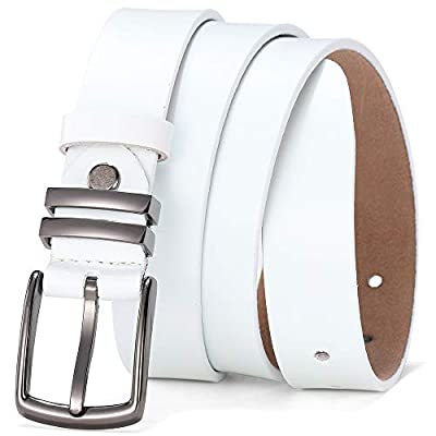 TUNGHO Womens Hollow Flower Genuine Leather Vintage Belts With Needle Buckle Plus Size XXXL