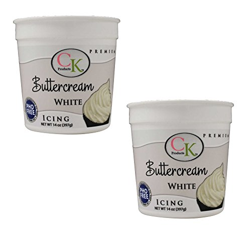 CK Products White Buttercream Icing, 14 oz White