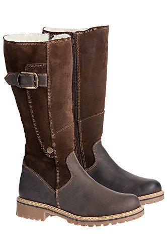 Co Waterproof Suede Boot - Women's Bos & Co Hailey Tall Waterproof Suede Boots, DARK BROWN/COFFEE, Size EU38