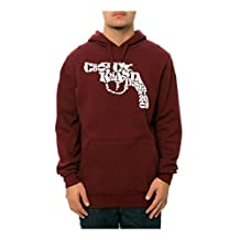 Crooks & Castles Mens The Snub Text Hoodie Sweatshirt Burgundy L