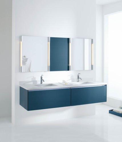 KOHLER K-2882-0 Verticyl Rectangle Undercounter Bathroom Sink, White