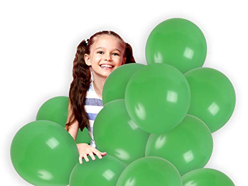 Treasures Gifted 12 Inch Light Green Solid Latex Balloons Premium Quality Bouquet for Monster Theme Birthday Mardi Gras Party Baby Shower Wedding Supplies (72 Pack)