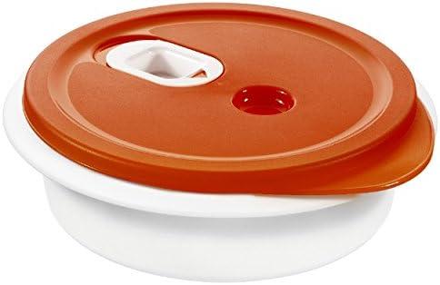 Rotho 1760902792 Microondas de Plato Hondo 1 L, Plástico, Rojo ...