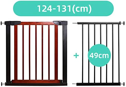 Bebé Puerta de Escalera Reja de Seguridad Madera Maciza Cierre Automático Barandilla Infantil Aislar Mascotas Golpe Gratis, 15 Tamaños (Color : A, Size : Width 124-131cm): Amazon.es: Hogar