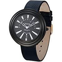 Moog Paris Night & Day Women's Watch with Black Dial, Black Strap in Genuine Leather - M45462-104