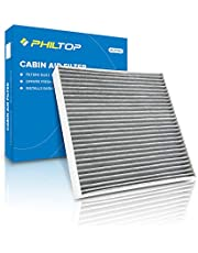 PHILTOP Cabin Air Filter, Replacement for CP134, CF10134, BE-134, Accord, Civic, Odyssey, CR-V, Pilot, MDX, TSX, Ridgeline, RDX, Includes Activated Carbon, Pack of 1