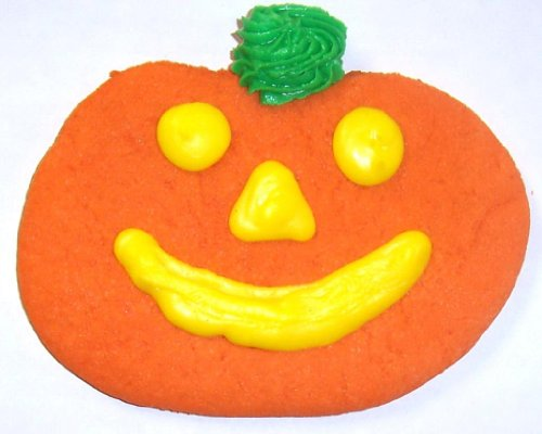 Scott's Cakes Jack-O-Lantern Sugar Cookies in a 1 Pound White Bakery Box (Shippable Cookies)