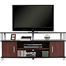 "TANGKULA Universal TV Stand Wood TV Media Stand Storage Console with Storage Cabinets & Shelves for Home Office Sturdy & Stable Wood Frame Display Cabinet 47"" Wide TV Entertainment Center Console"
