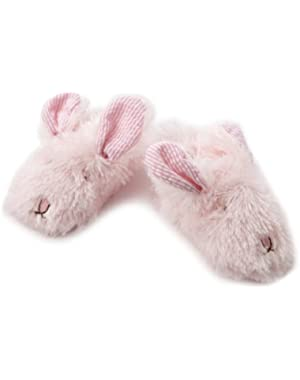 Baby Girls' Plush Bunny Slippers