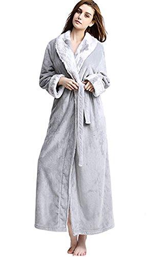 a428b76e032 MAGILONA Women Men's Pregnant Loose Wears Hoodie Soft Velvet Bathrobe  Winter Sleepwear Thicken Nightgown Fleece Home Wear