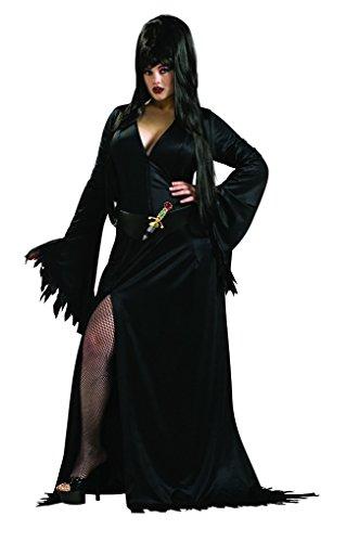 Faerynicethings Adult Plus Elvira Mistress of The Dark ()