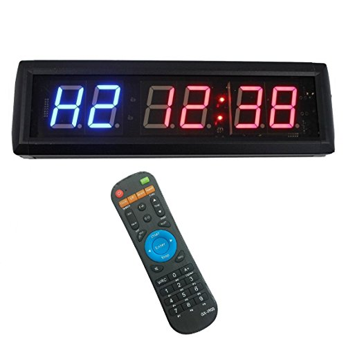 1.8'' LED Interval Workout Timer Countdown Stopwatch
