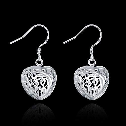 (JINGB Home Korean Fashion Three-Dimensional Heart-Shaped Earrings)