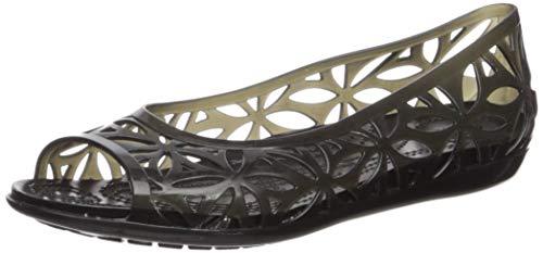 Crocs Women's Isabella Jelly II Flat W Sandal, Black, 9 M US ()