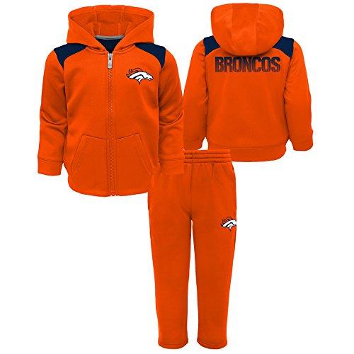 Outerstuff NFL Denver Broncos Toddler Play Action Performance Fleece Set, Orange, 4T