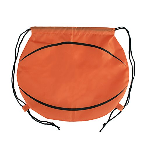 Opromo Basketball/Football/Softball 210D Polyester Drawstring Backpack BASKETBALL-100PACK by Opromo