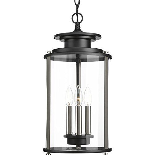 Progress Lighting P550012-031 Squire Black Three-Light Hanging Lantern,