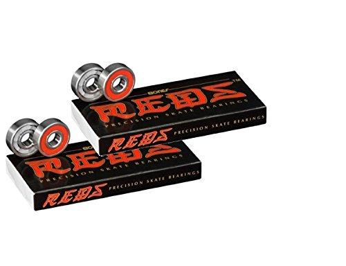 (Bones Bearings REDS Skate Bearings (8mm, 16-Pack) )