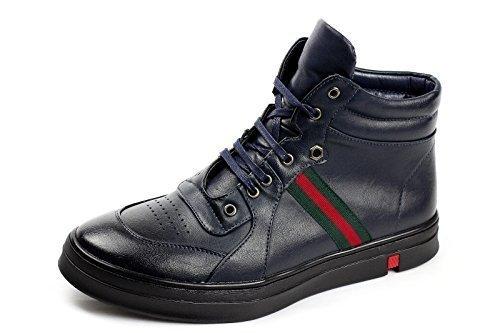 JAS Mode Herren Hi Oberteile Sneakers Schnürer Stiefel Party Turnschuhe Freizeit Schuhe Größe UK Marine