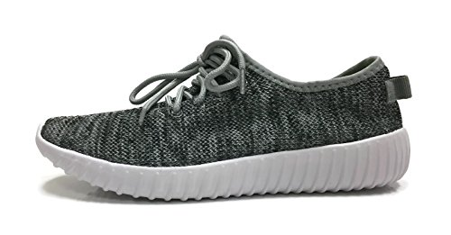 Womens Athletic Shoes Casual Breathable Sports Sneakers, Grey Heather, 8.5 (Athletic Shoe Collection)