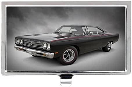Black Car Roadrunner Image Business Name Card Holder Case