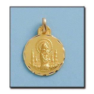 Médaille D'or 18kt Vierge Del Pilar 17mm