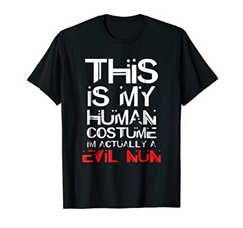 Evil Nun Halloween Costume Shirt For Kids and Adults