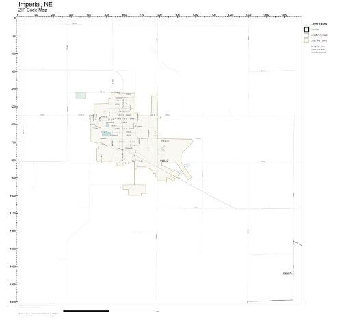 Imperial Nebraska Map.Amazon Com Zip Code Wall Map Of Imperial Ne Zip Code Map Not
