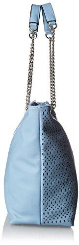 Silvian Heach RCP18046BO, Borsa a Spalla Donna, Turchese (Blue Light), 15x32x46 cm