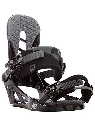 K2 Men's Indy: Snowboard Bindings (Black, Medium) - K2 Snowboarding