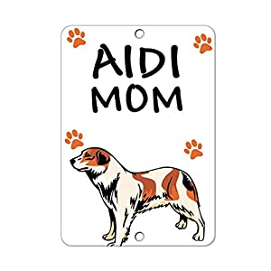 HAHUHU AIDI Dog Mom Vertical Metal Signs for Garage Man Cave Wall Art Decor for Home Bar Garage Store Yard Office 2