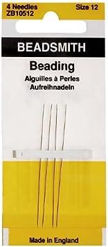 4 Needles//Pack by Beadsmith Needles Beading Size 12