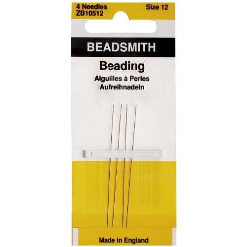 (Needles Beading Size 12, 4 Needles/Pack)