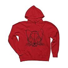 Cat Skull Men's Graphic Zip Hoodie - Design By Humans
