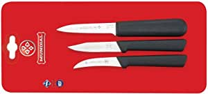 Mundial SC0500-3 Paring Knife Collection, Set of 3, Black