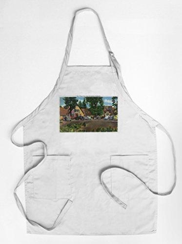 lake-arrowhead-california-exterior-view-of-the-village-inn-quality-cotton-polyester-chefs-apron