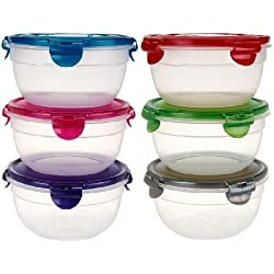 (Pack of 6) Lock&Lock Round Food Container, K42529, 3-5/8 Cup, 29 Oz Each
