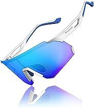 Polarized Sports Sunglasses for Men Women,Outdoor Cycling Glasses for Driving Fishing Biking Running